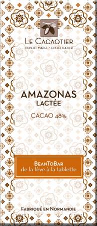 Tablette Amazonas lacté (lait 48%) - BeanToBar